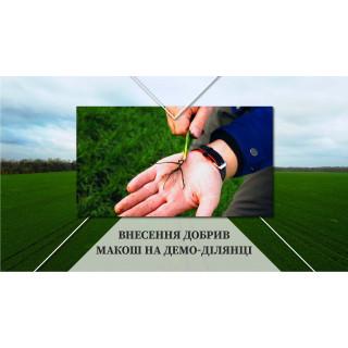 Внесение удобрений Макош на демо-поле (Винницкая область, Иллинецкий район)